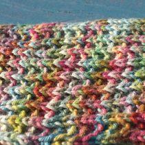 seeded rib stitch scarf - close up