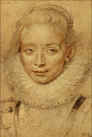 either a Spanish princess or Rubens' daughter Clara, who died at the age of twelve