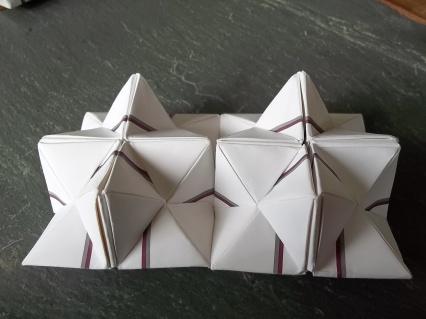 The magic square, unfolded flat...