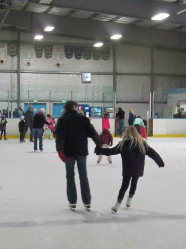 E and mama skating